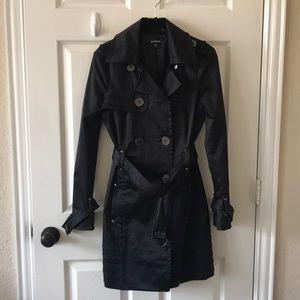 Bebe black trench coat